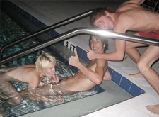 orgy by the pool (leaked video)