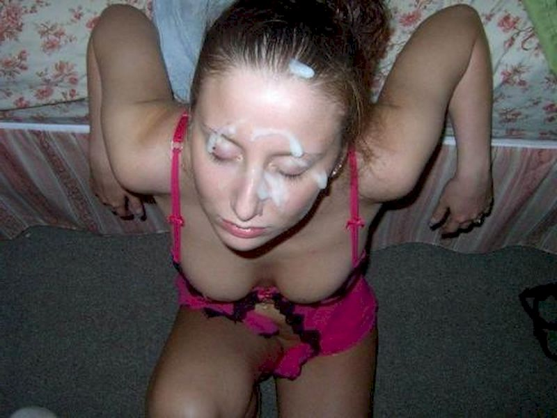 Amateur Girlfriend Gets Facial